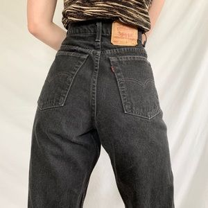 Vintage 80s Levi's 551 Black Wash Relaxed Jeans